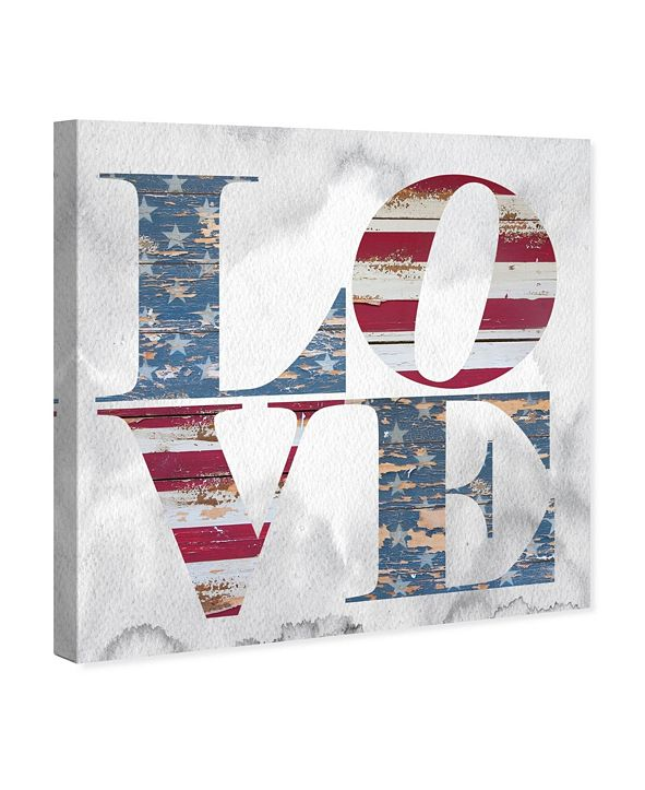 """Oliver Gal Build On Love Freedom Canvas Art, 12"""" x 12"""""""