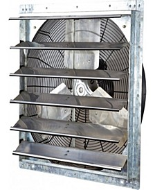"24"" Variable Speed Shutter Exhaust Fan, Wall-Mounted"