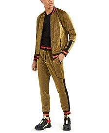 INC Striped-Trim Track Suit, Created For Macy's