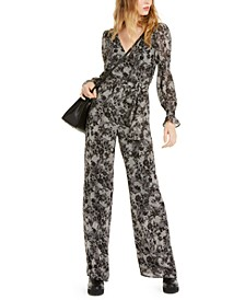 Smocked-Sleeve Jumpsuit