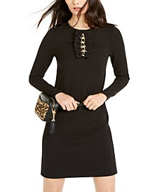 Chain-Embellished Bow-Detail Dress, Regular & Petite