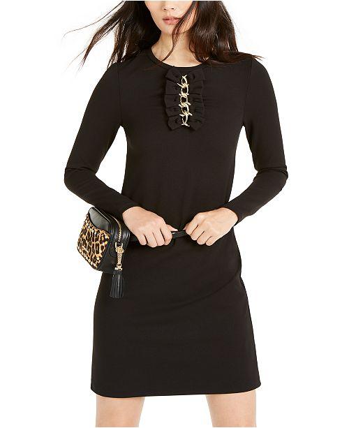 Michael Kors Chain-Embellished Bow-Detail Dress, Regular & Petite