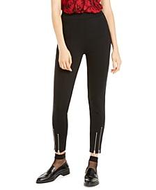 Zipper-Cuff Leggings, Regular & Petite