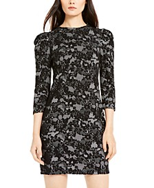Lace-Print Sheath Dress, Regular & Petite
