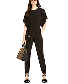 Batwing-Sleeve Belted Jumpsuit, Regular & Petite