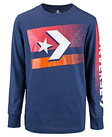 Big Boys Bitmap Star Chevron Logo T-Shirt