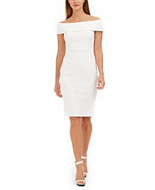 Off-The-Shoulder Sheath Dress