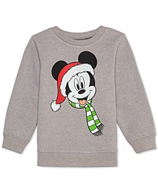 Little Boys Mickey Mouse Holiday Sweatshirt