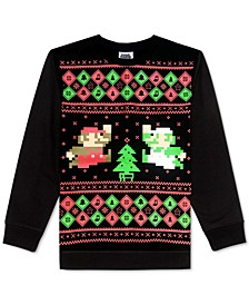 Big Boys Super Mario Bros. Holiday Sweatshirt