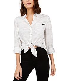Tencel Camo Button-Down Shirt
