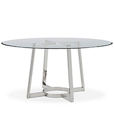"Bowen 60"" Glass Top Round Dining Table"