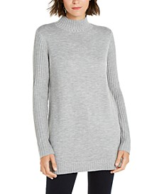INC Mock-Neck Stitched Tunic, Created For Macy's