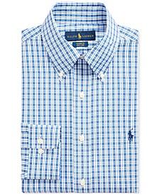 Men's Blue Check Dress Shirt