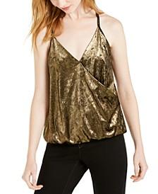 INC  Velvet Surplice Camisole Top, Created For Macy's