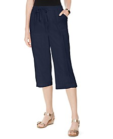 Petite Cotton Cherry Capri Pants, Created for Macy's