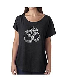 Women's Dolman Cut Word Art Shirt - Poses Om