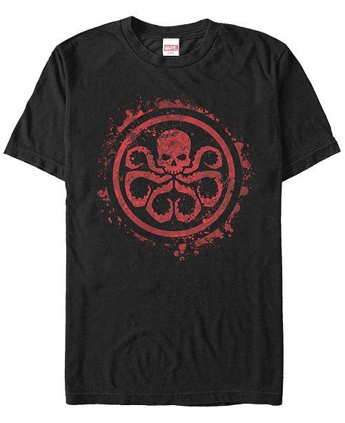 Fifth Sun Marvel Men's Hydra Red Paint Splatter Chest Logo Short Sleeve T-Shirt
