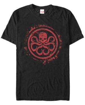 Marvel Men's Hydra Red Paint Splatter Chest Logo Short Sleeve T-Shirt