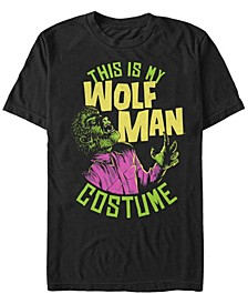 Universal Monsters Men's My Wolfman Halloween Costume Short Sleeve T-Shirt