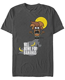 Despicable Me Men's Minions Wolfman Will Howl For Bananas Short Sleeve T-Shirt