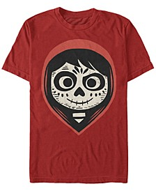 Disney Pixar Men's Coco Miguel Sugar Skull Big Face Short Sleeve T-Shirt