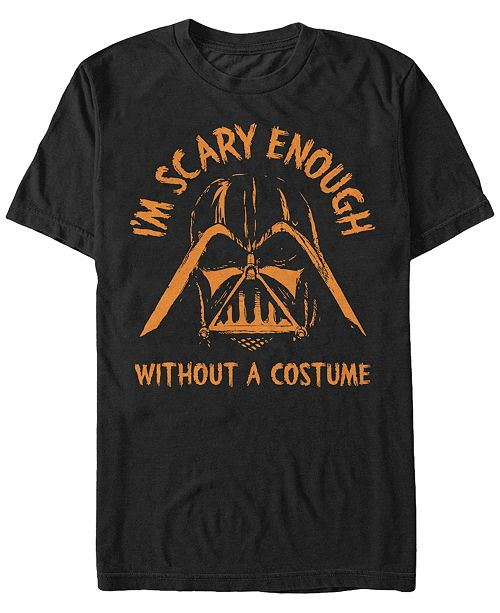 Fifth Sun Star Wars Men's Darth Vader Scary without A Halloween Costume Short Sleeve T-Shirt