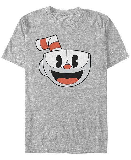 Fifth Sun Cuphead Men's Big Face Costume Short Sleeve T-Shirt Short Sleeve T-Shirt