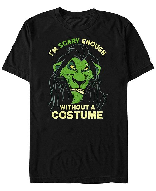 Fifth Sun Disney Men's Lion King Scar Scary without A Costume Short Sleeve T-Shirt