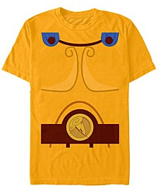 Disney Men's Hercules Chest Costume Short Sleeve T-Shirt Short Sleeve T-Shirt