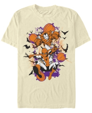 Marvel Men's Classic Comics Spider-Man Iron Man Halloween Short Sleeve T-Shirt