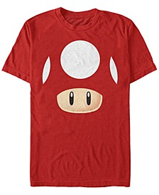 Nintendo Men's Super Mario Mushroom Costume Short Sleeve T-Shirt