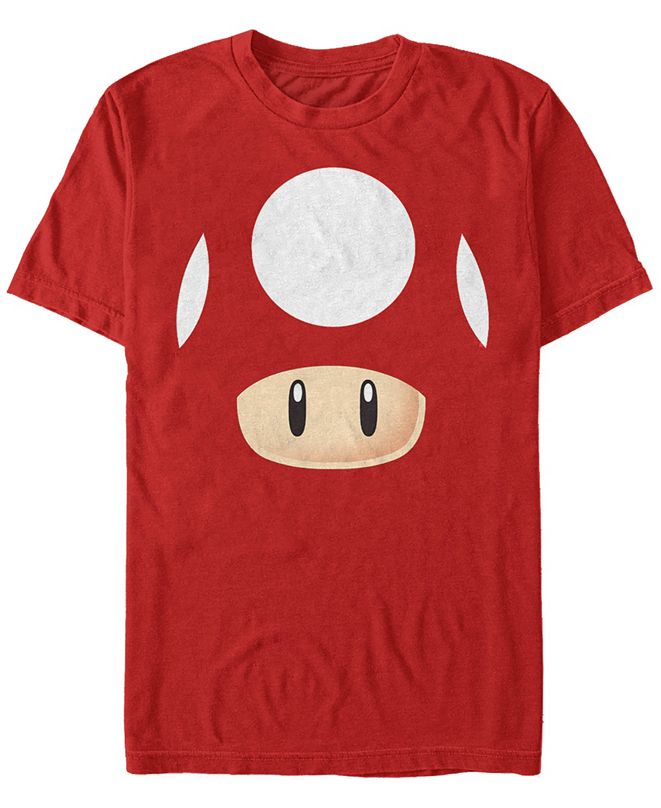 Fifth Sun Nintendo Men's Super Mario Mushroom Costume Short Sleeve T-Shirt