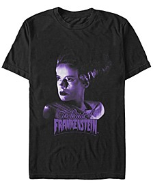 Universal Monsters Men's Bride of Frankenstein Portrait Short Sleeve T-Shirt