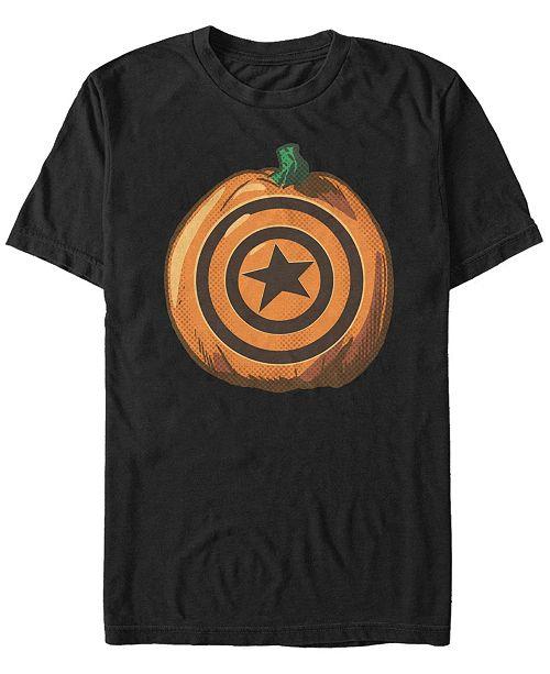 Fifth Sun Marvel Men's Captain America Shield Pumpkin Short Sleeve T-Shirt