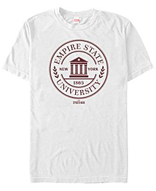 Marvel Men's Spider-Man Gamerverse Empire State University Emblem Short Sleeve T-Shirt