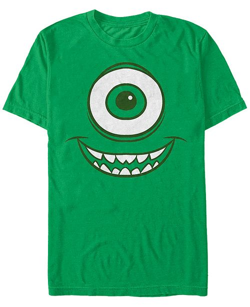 Fifth Sun Disney Pixar Men's Monsters Inc. Mike Wazowski Big Face Costume Short Sleeve T-Shirt