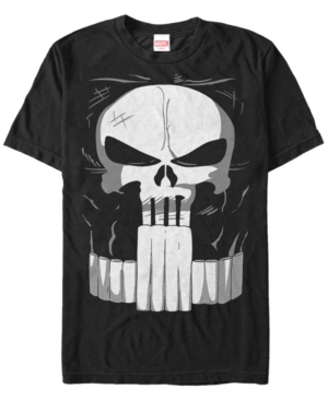 Marvel Men's Punisher Chest Logo Costume Short Sleeve T-Shirt
