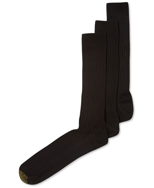 d97b3c40f Gold Toe ADC Canterbury 3 Pack Crew Extended Size Dress Men's Socks ...