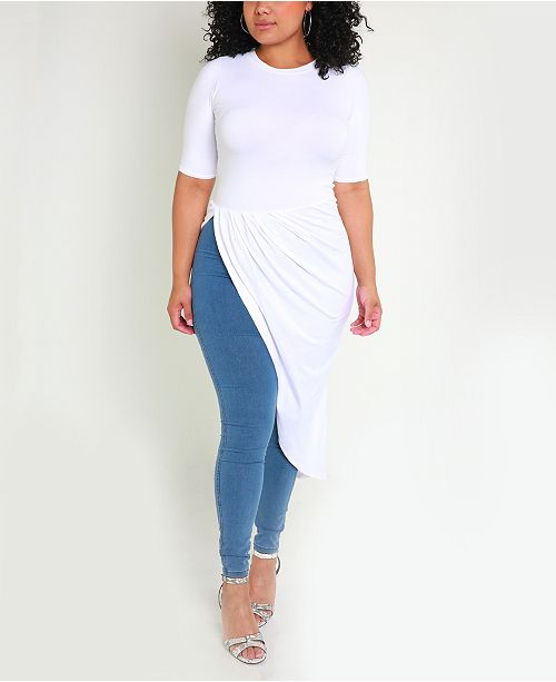 Rebdolls Peplum Ruched Top by The Workshop at Macy's