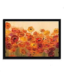 """Summer Poppies by Silvia Vassileva Framed Painting Print, 33"""" x 23"""""""