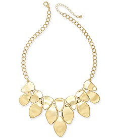 """Silver-Tone Sculptural Statement Necklace, 18"""" + 3"""" extender, Created For Macy's"""