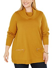 Plus Size Cowlneck Sweater, Created For Macy's