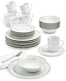 Gold Serif 32-Piece Dinnerware Set, Service For 8