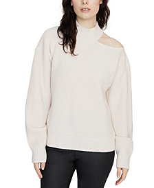 Sanctuary Cold Shoulder Crewneck Sweater