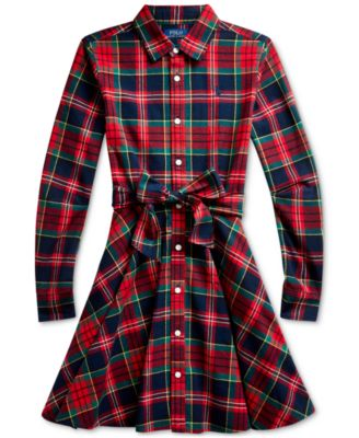 Baby Girl's Plaid Shirtdress & Bloomer