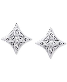 Diamond Star Stud Earrings (1/10 ct. t.w.) in Sterling Silver