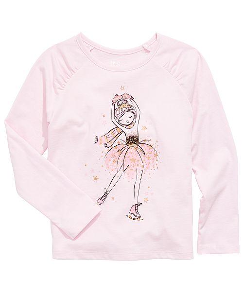 Epic Threads Little Girls Ballerina Ice Skater T-Shirt, Created For Macy's