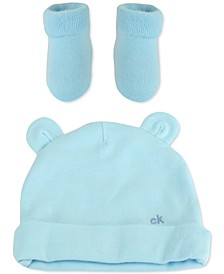 Baby Boys 2-Pc. Hat & Booties Set