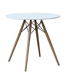 "Woodleg Dining Table 36"" Fiberglass Top"