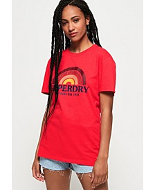 Vintage-like Text Graphic T-Shirt